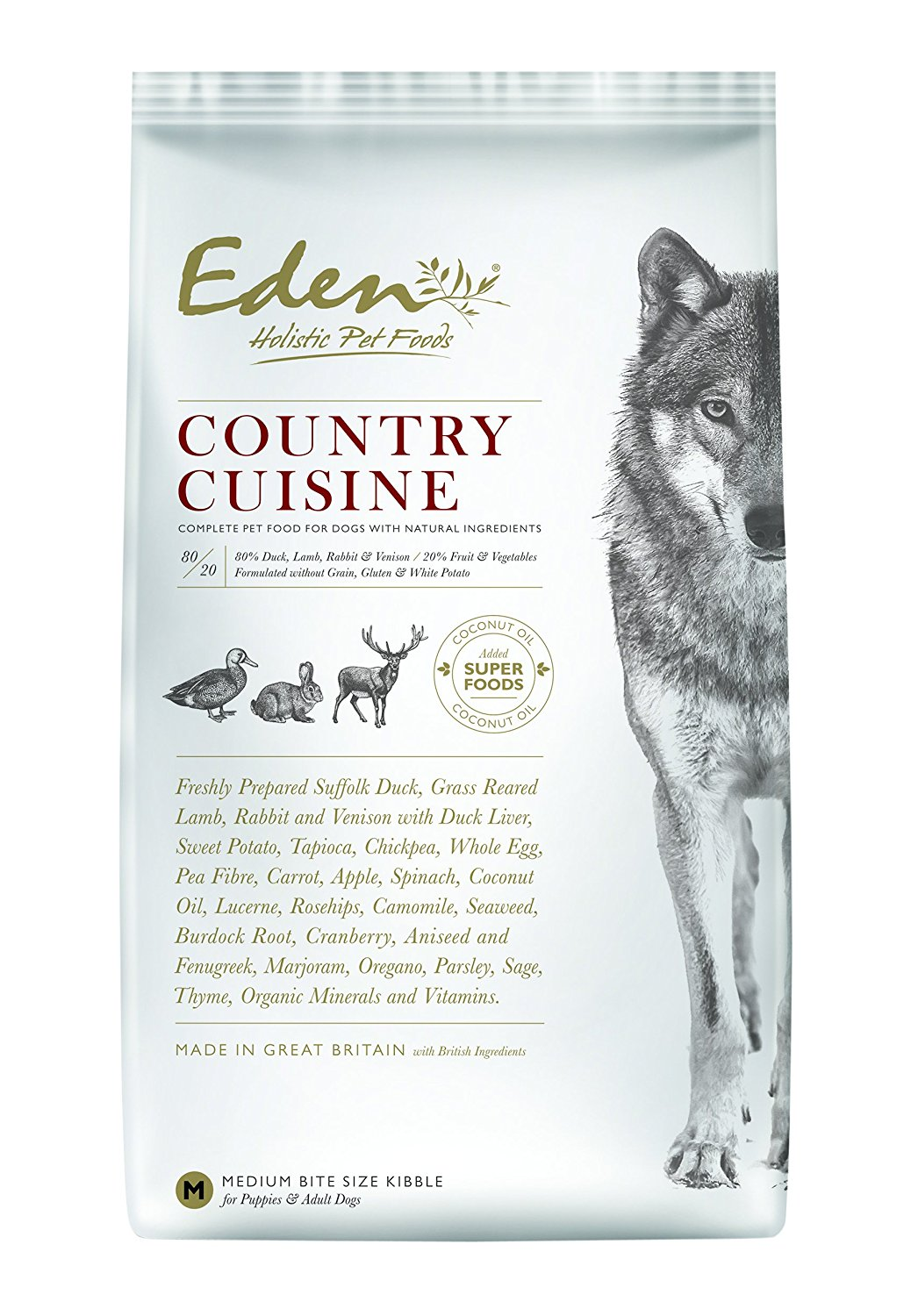 Eden 80/20 Country Cuisine 6kg Dog Food( Medium Kibble Out of Stock with manufacturer)