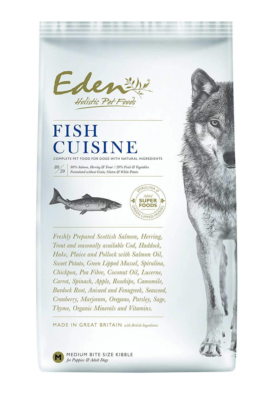 Eden 80/20 Fish Cuisine 12kg Dog Food
