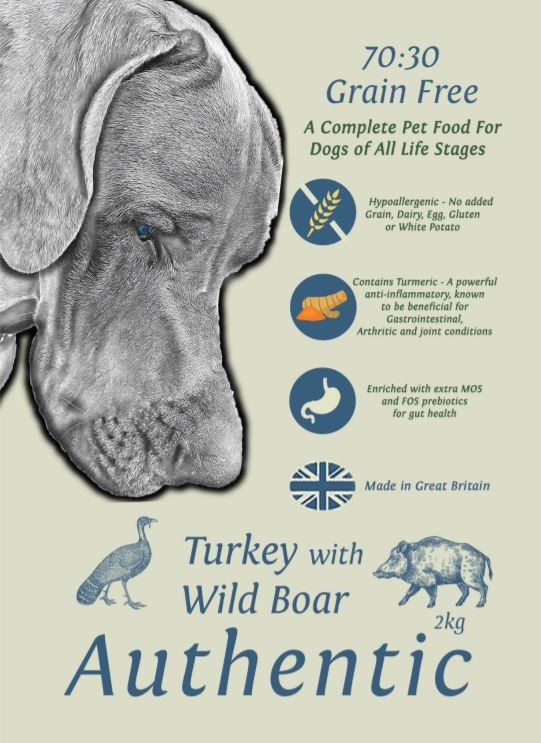 Grace 70/30 Authentic Turkey with Wild Boar 2kg Dog Food