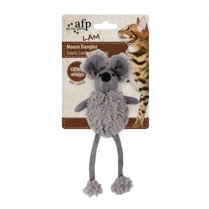 All For Paws Mouse Dangler GREY