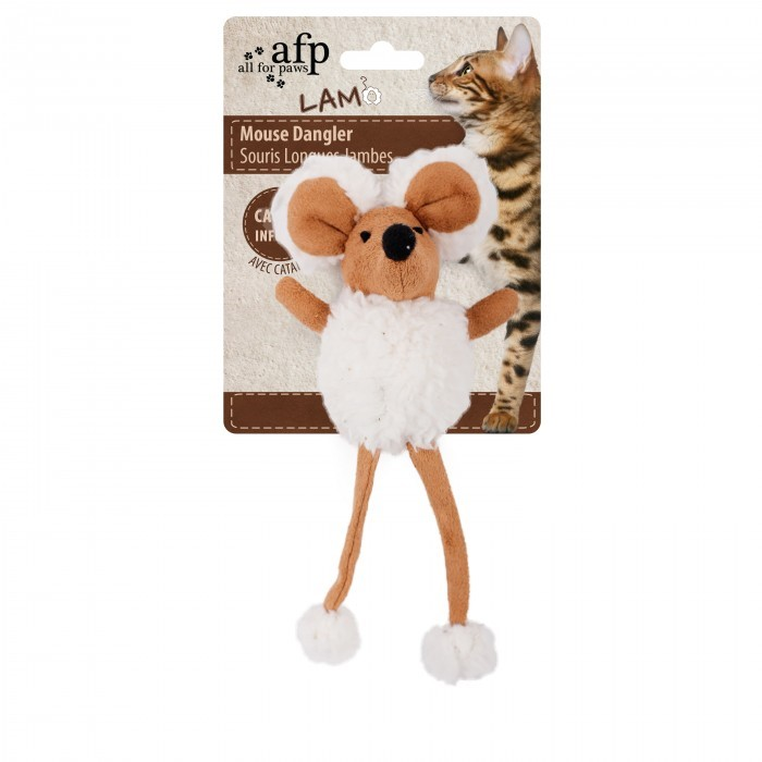 All for Paws Mouse Dangler Lt-BROWN