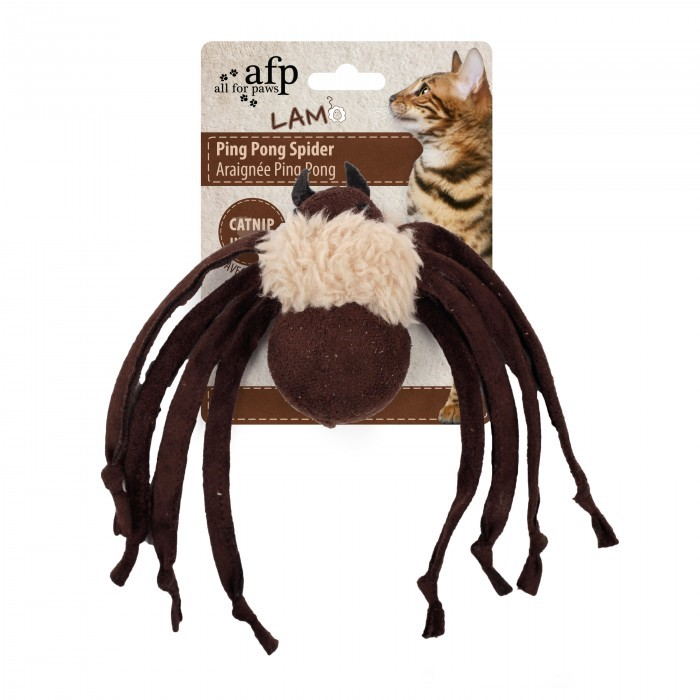 All For Paws Ping Pong Spider BROWN