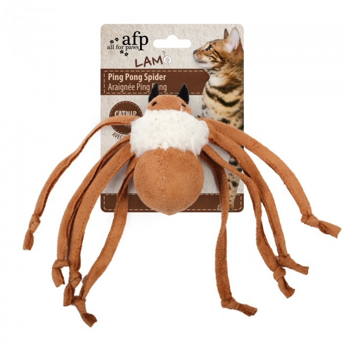 All For Paws Ping Pong Spider Lt-BROWN
