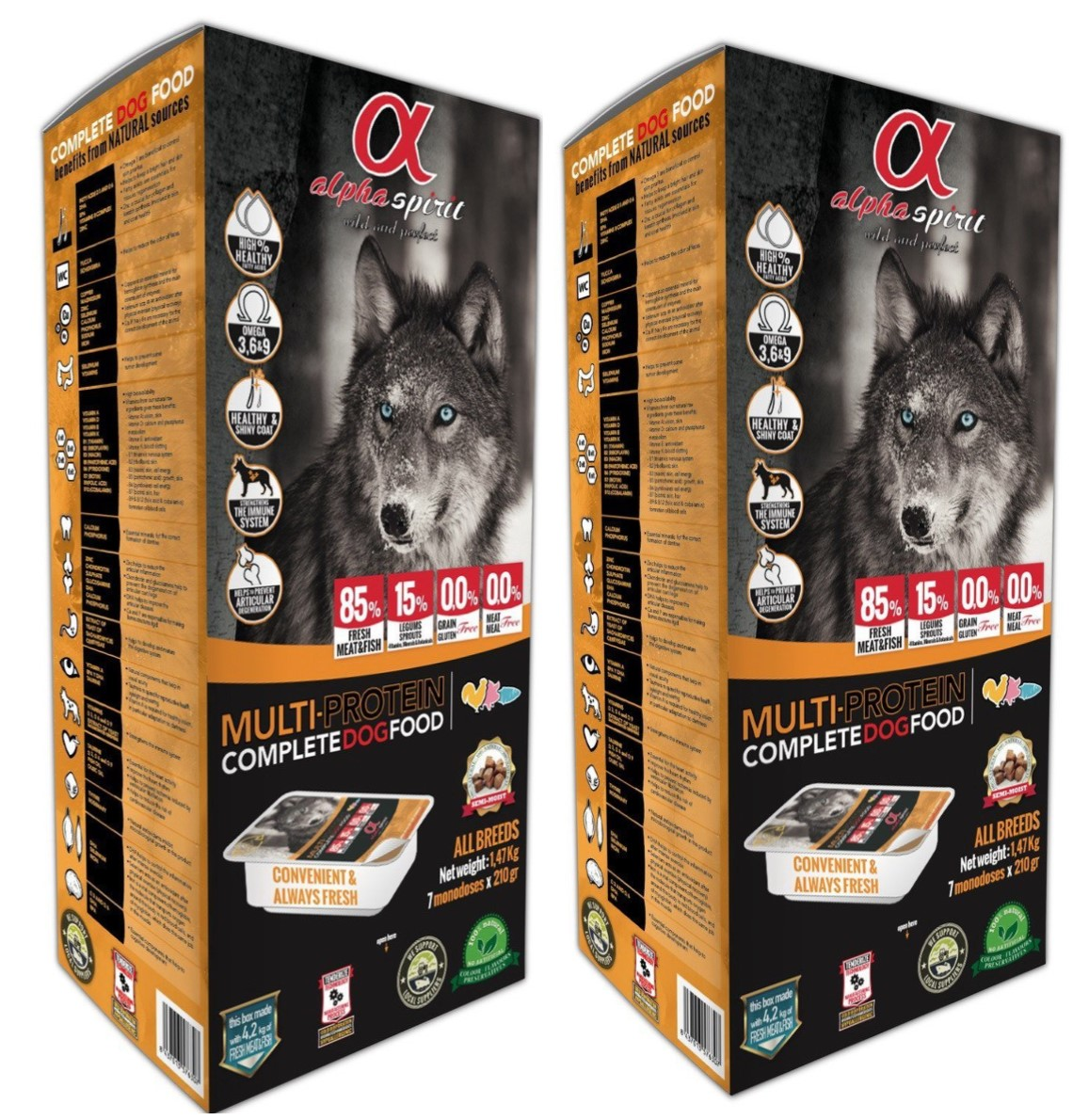 Alpha Spirit Multi Protein Dog Food 9.45kg