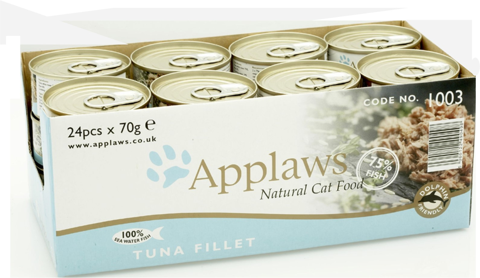 Applaws Cat Food Tin Tuna Fillet 24 x 70g