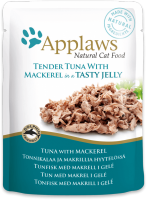 Applaws Tuna Meat with Mackerel in Jelly Cat Pouch 70g