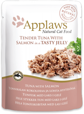 Applaws Tuna Meat with Salmon in Jelly Cat Pouch 70g