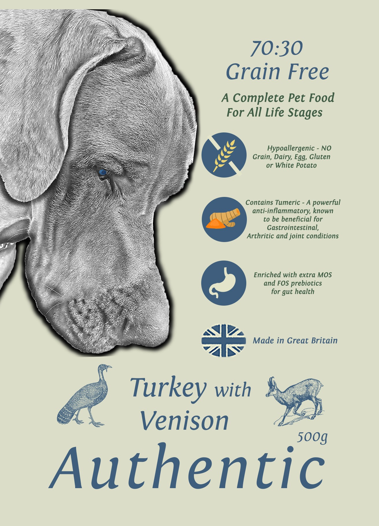Grace 70/30 Authentic Turkey with Wild Boar 500g