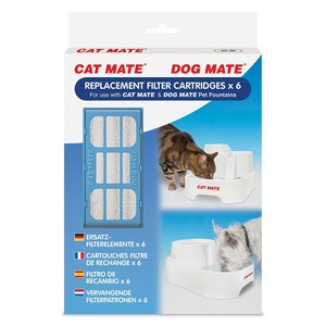 Pet Mate Replacement Water Filters x 6