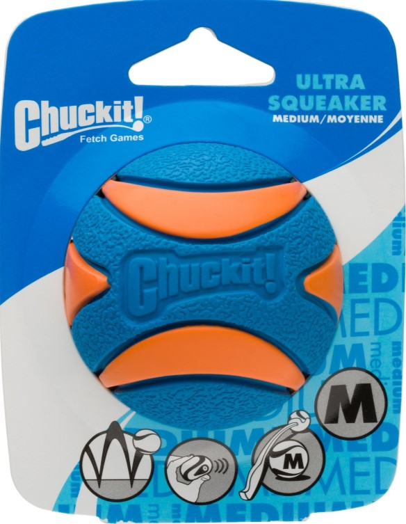 Chuckit Squeaker Ball Medium Single