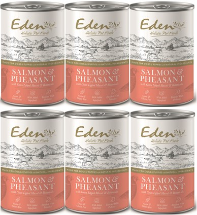 Eden Wet Food for Dogs GOURMET SALMON AND PHEASANT