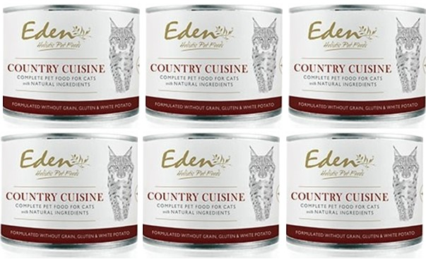 EDEN WET CAT FOOD COUNTRY CUISINE 6 Pack