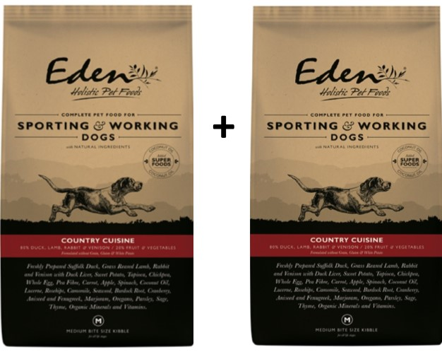 Eden 80/20 Country Cuisine Working and Sporting 15kg Dog Food