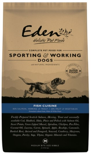 Eden 80/20 Fish Cuisine Working and Sporting 15kg Dog Food