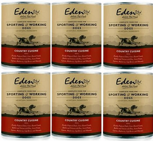 Eden Wet Food for Dogs 80:20 Country Cuisine 6 x 400g