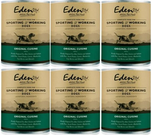 Eden Wet Food for Dogs 80:20 Original Cuisine 6 x 400g