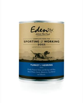Eden Wet Food for Dogs Turkey & Herring 6 x 400g
