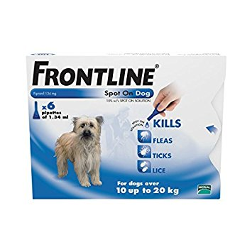 Spot On Medium Dog 10kg to 20kg - Frontline 6 Pipettes