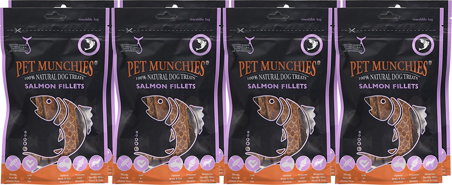 Pet Munchies Salmon Fillets 1 box of 8