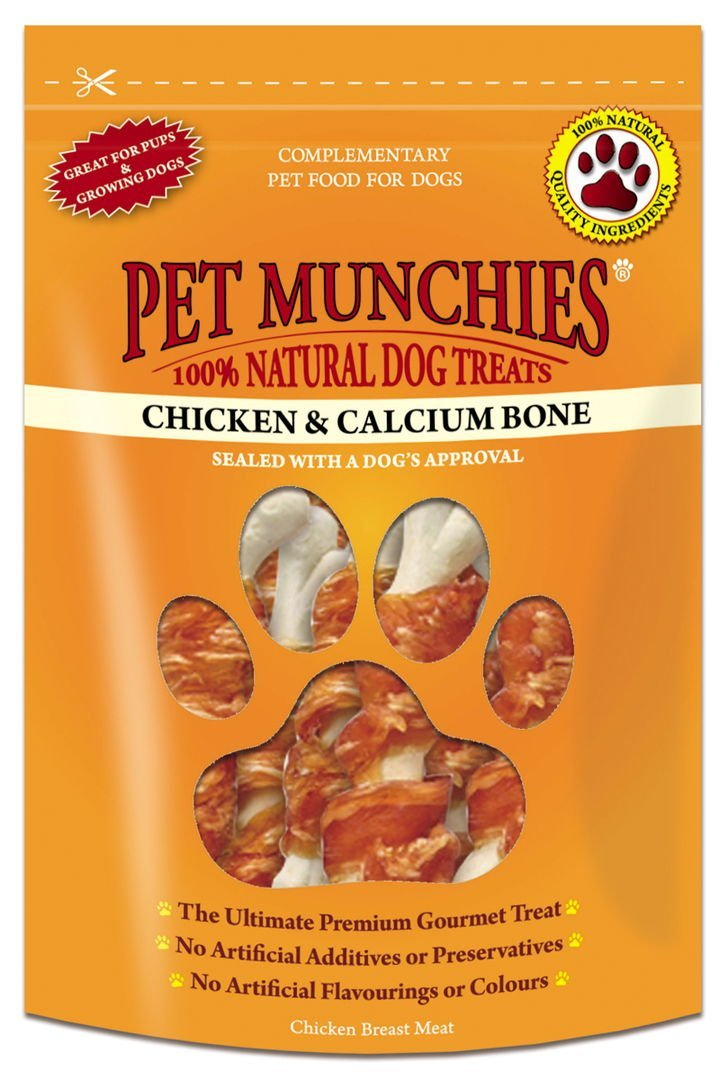 Pet Munchies Calcium and Chicken Bones 100g