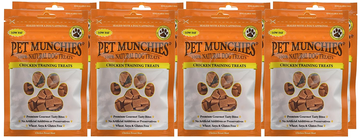 Pet Munchies Training Treats Chicken 1 box of 8