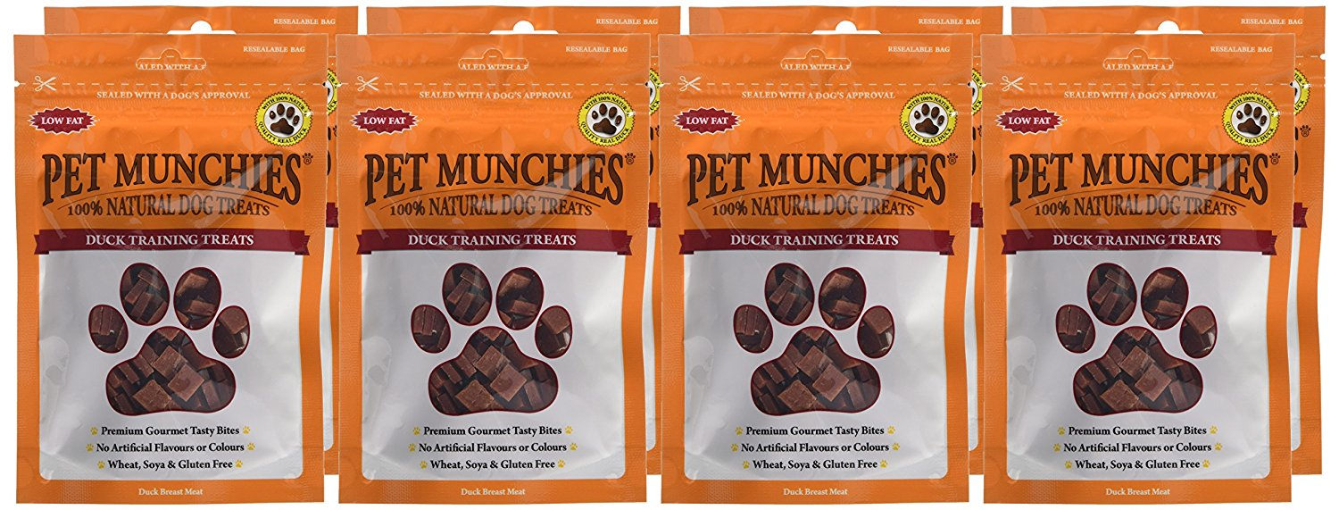 Pet Munchies Training Treats Duck 1 box of 8