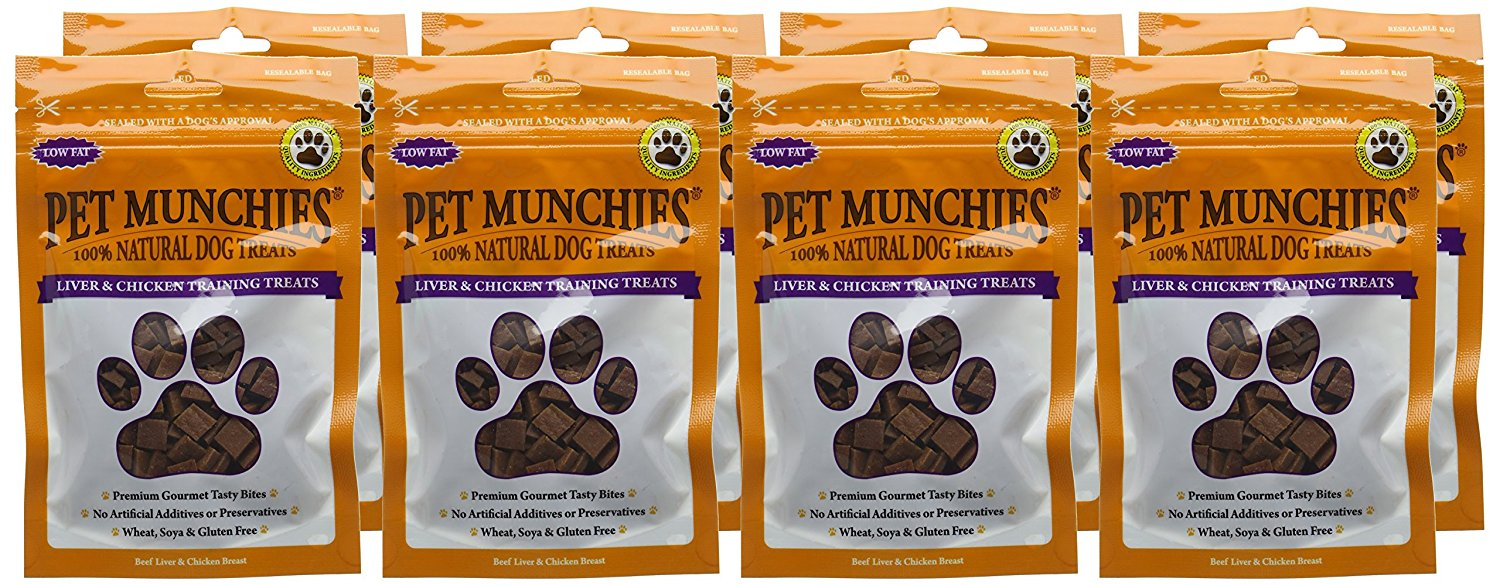 Pet Munchies Training Treats Liver & Chicken 1 box of 8