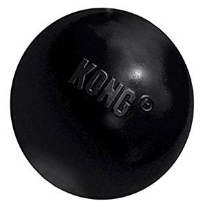 KONG Extreme Ball Dog Toy Medium, Large - Black