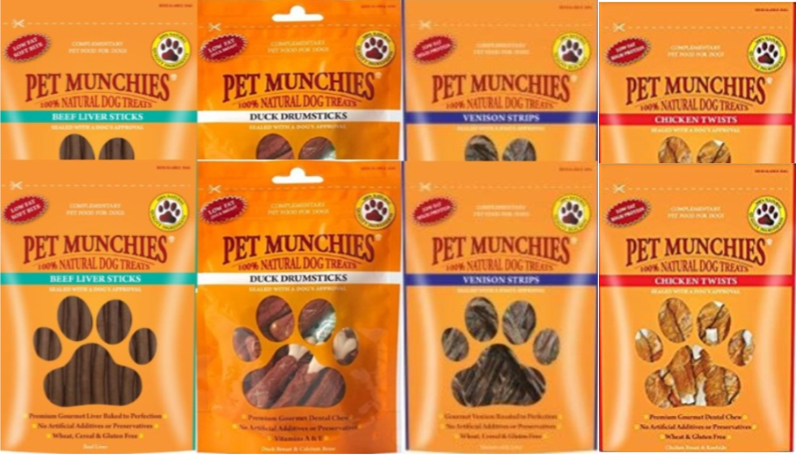 Pet Munchies Dog Treats Mixed 8 Pack