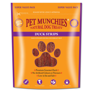 Pet Munchies Duck Strips 320g