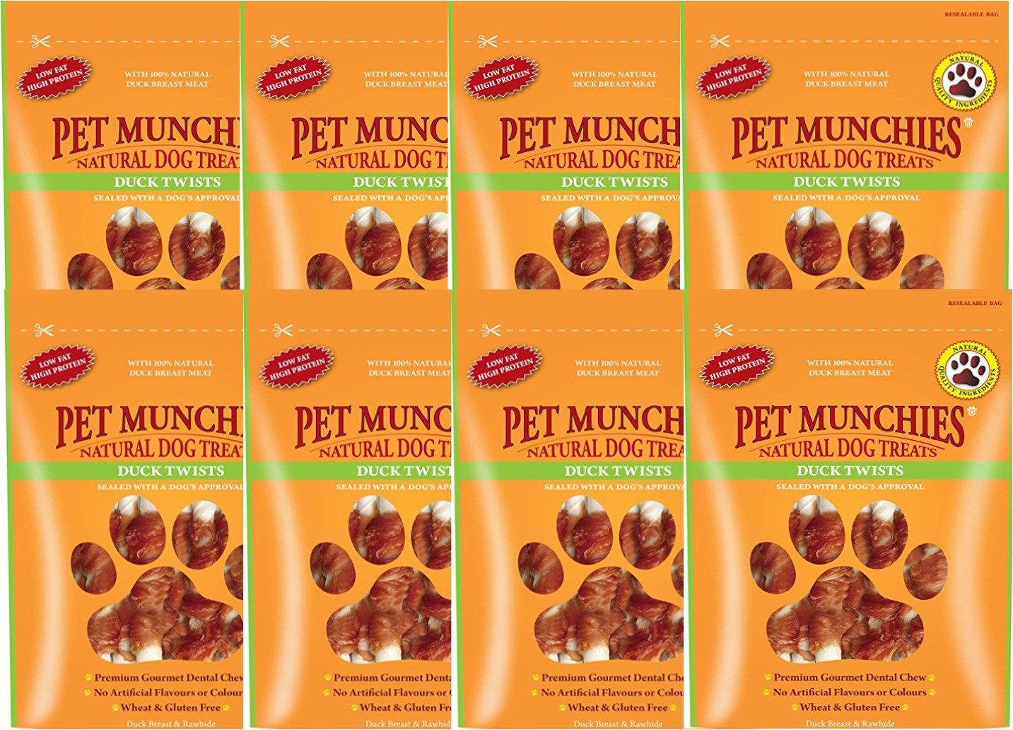 Pet Munchies Duck Twists 1 box of 8