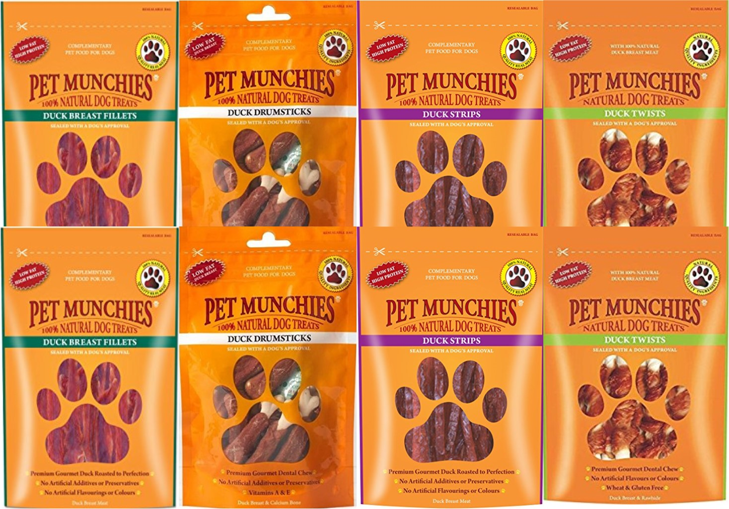 Pet Munchies Dog Treats Mixed Duck 8 Pack