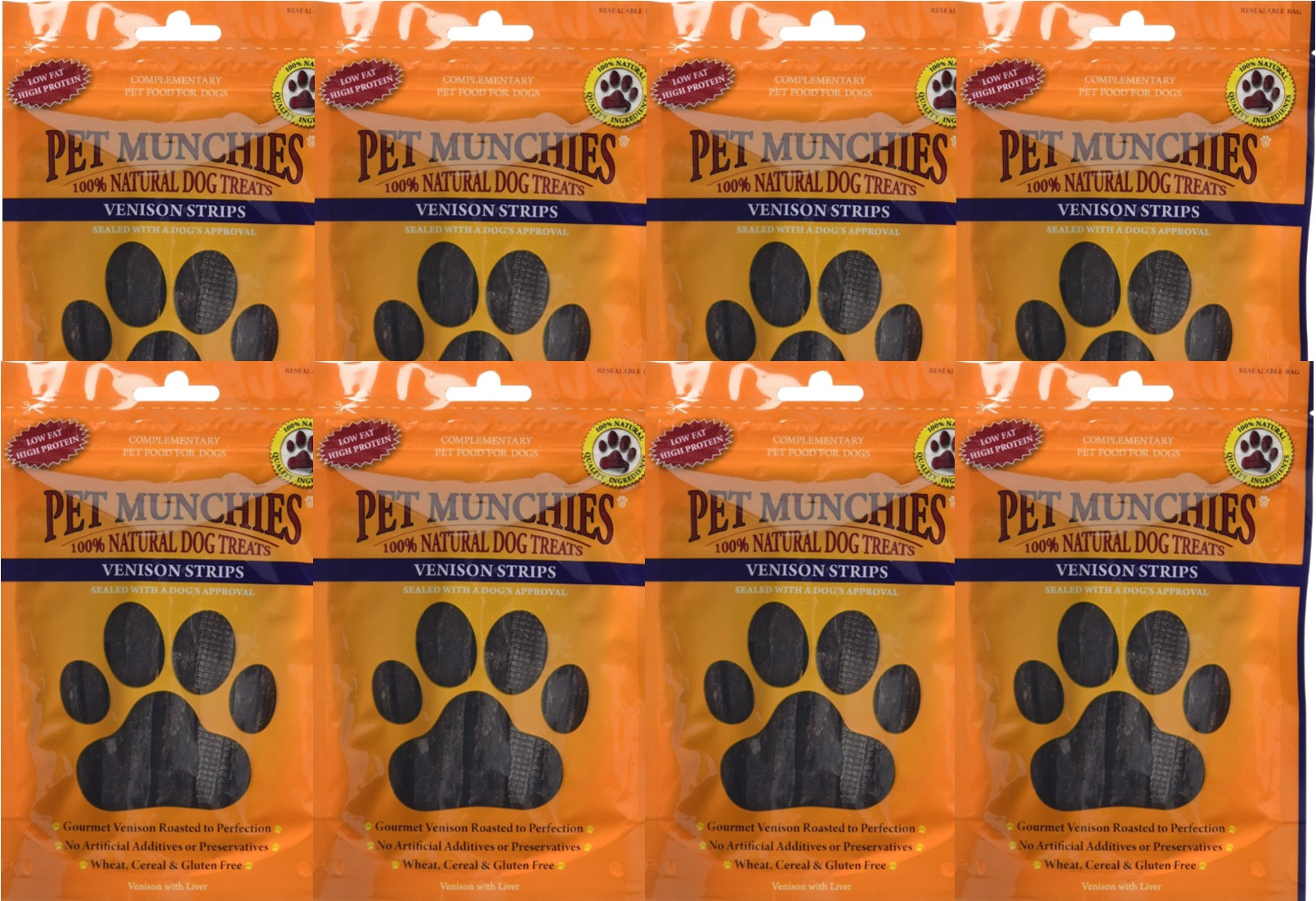 Pet Munchies Venison Strips 1 box of 8