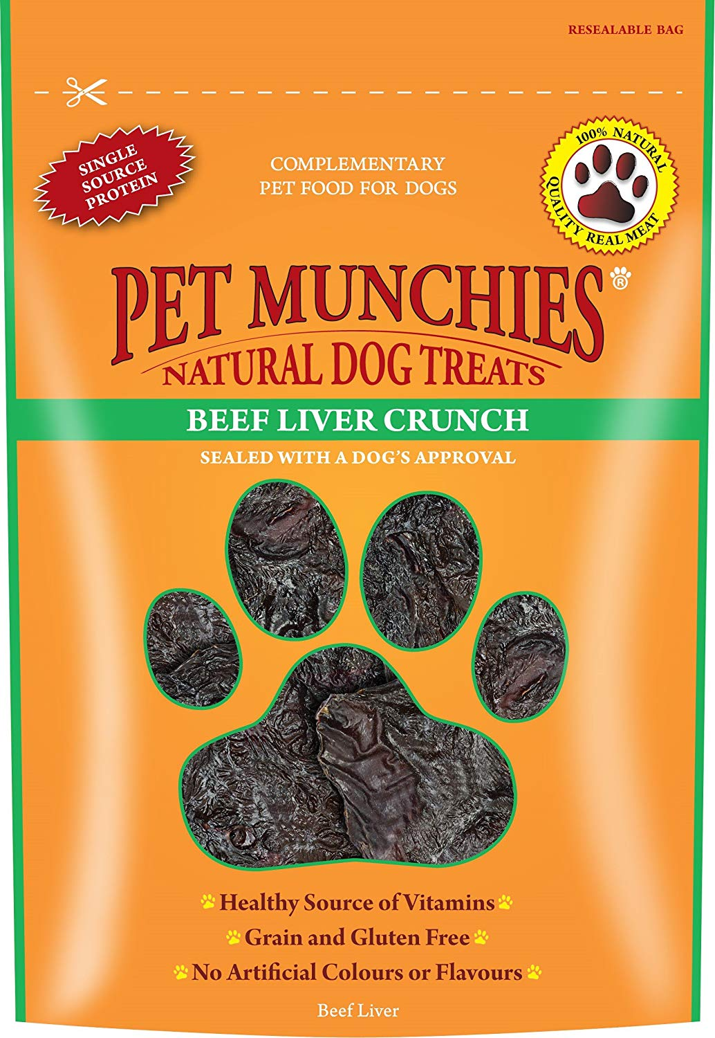 Pet Munchies Beef Liver Crunch, 90g