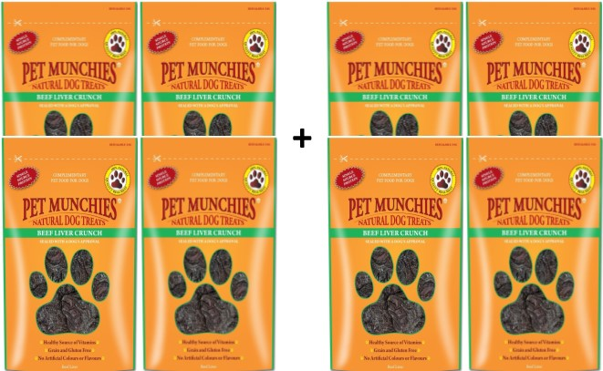 Pet Munchies Beef Liver Crunch 1 box of 8