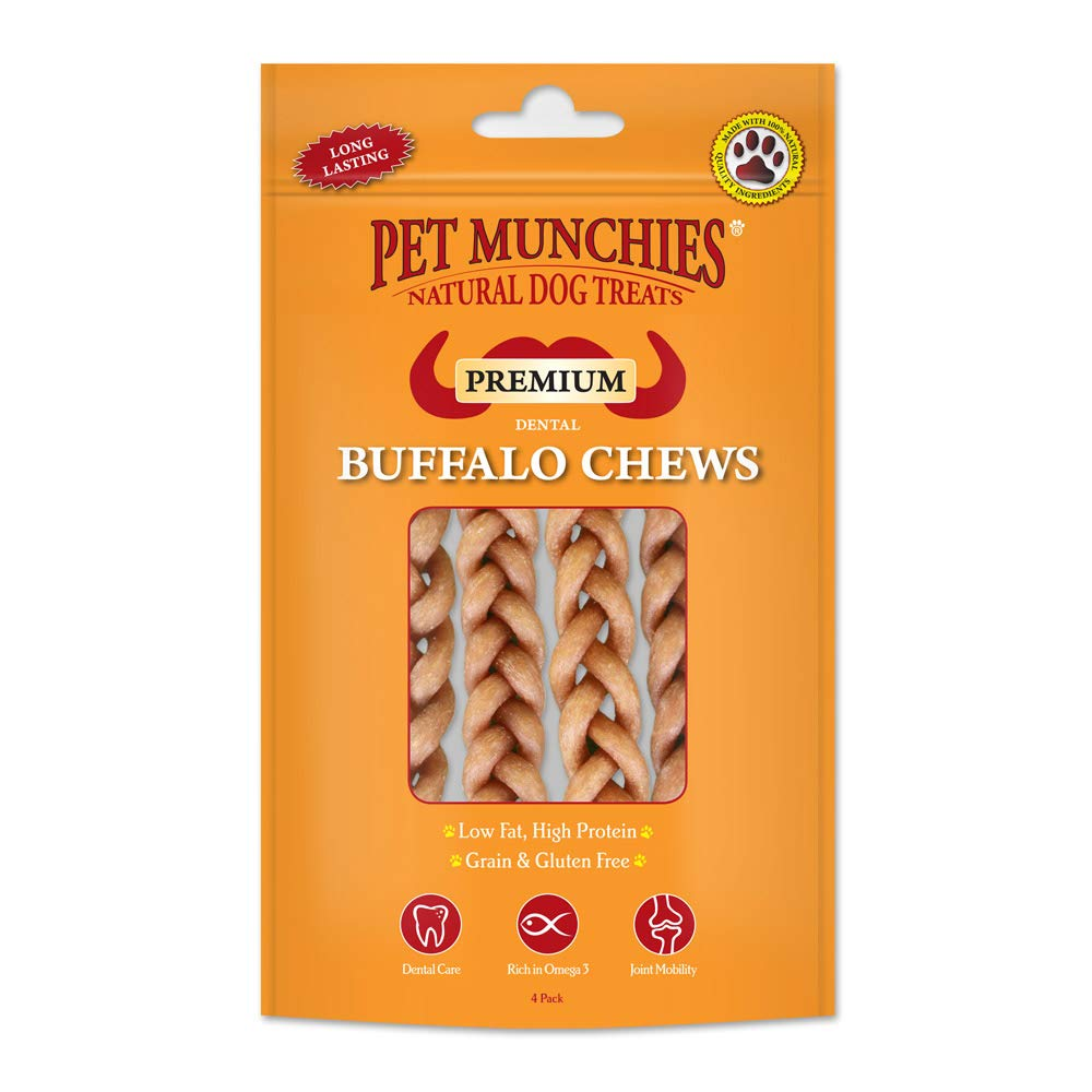 Pet Munchies Small Buffalo Dental Chews 55g, (4 pack)