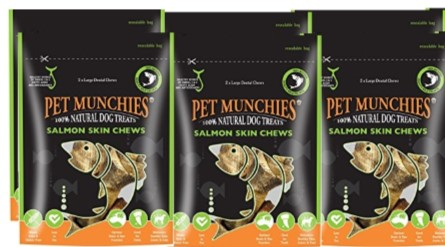 Pet Munchies Salmon Chews Large 1 box of 6