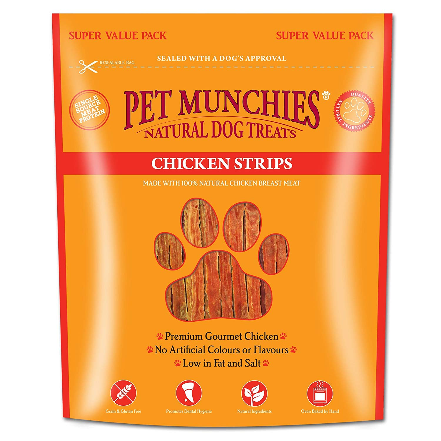 Pet Munchies Super Value Pack Chicken Strips 320g