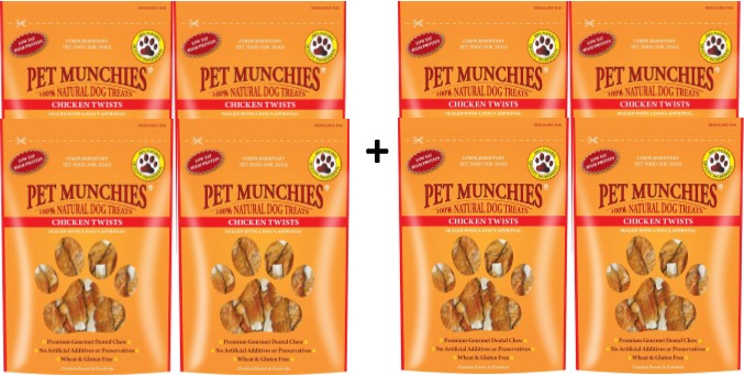 Pet Munchies Chicken Twists 1 box of 8
