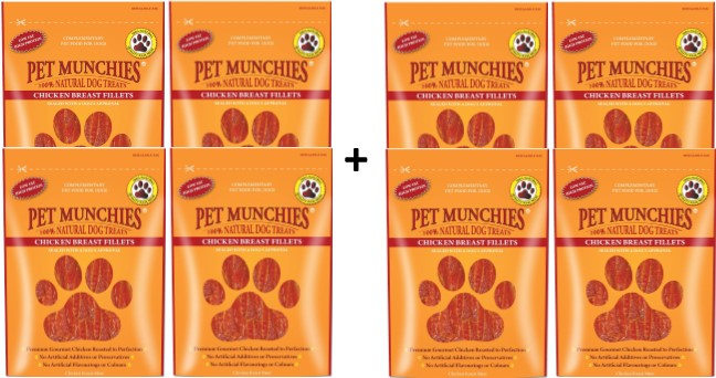 Pet Munchies Chicken Breast Fillets 1 box of 8