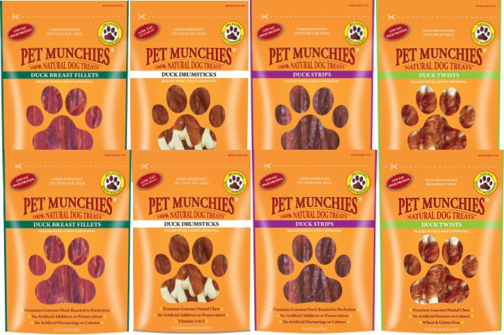 Pet Munchies Dog Treats Duck Mixed 8 Pack