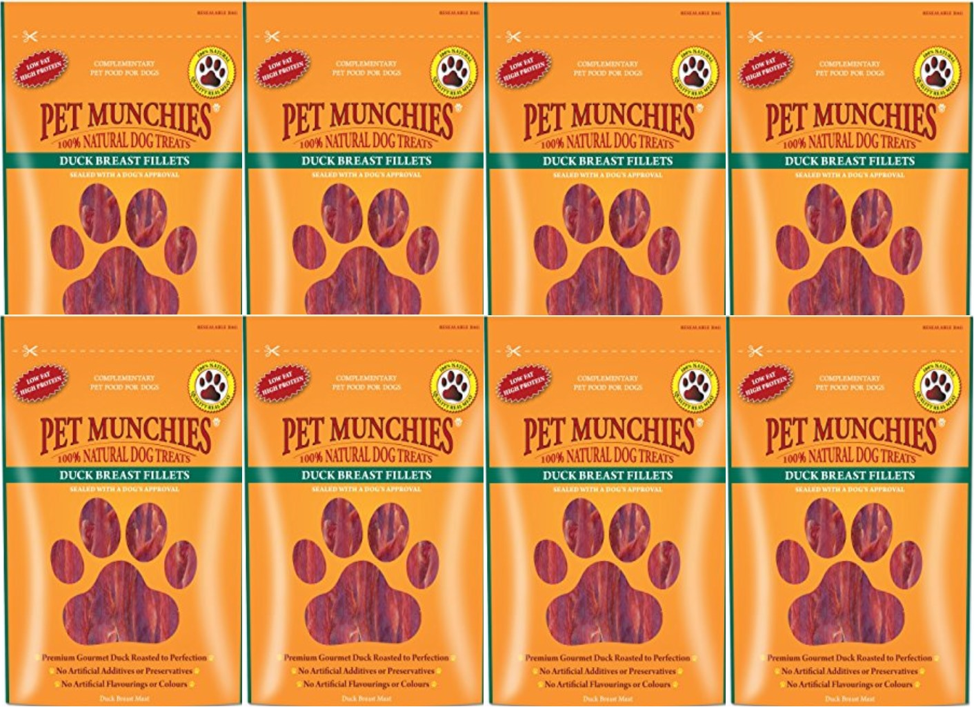 Pet Munchies Duck Breast Fillet 1 box of 8