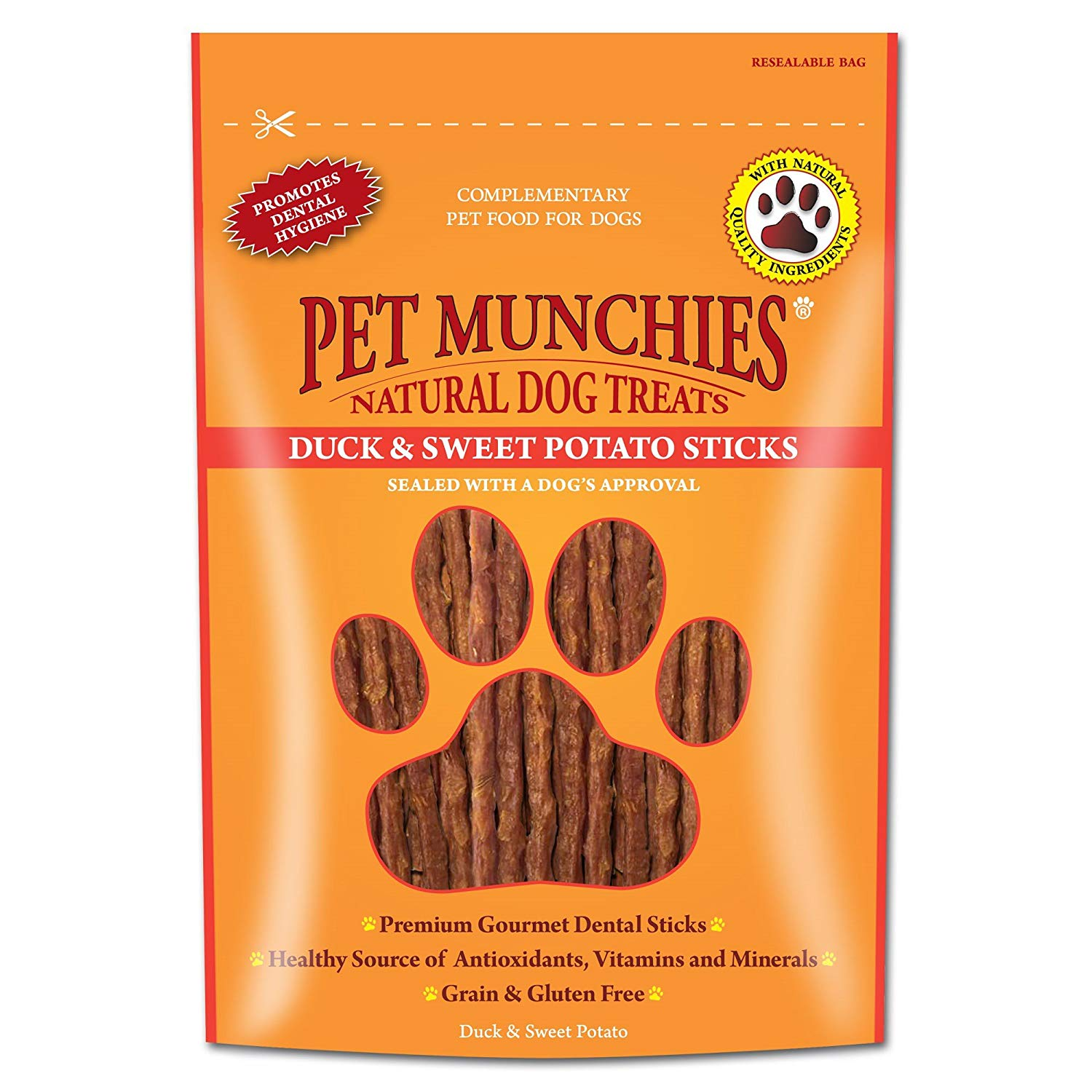 Pet Munchies Duck & Sweet Potato Dental Sticks 90g