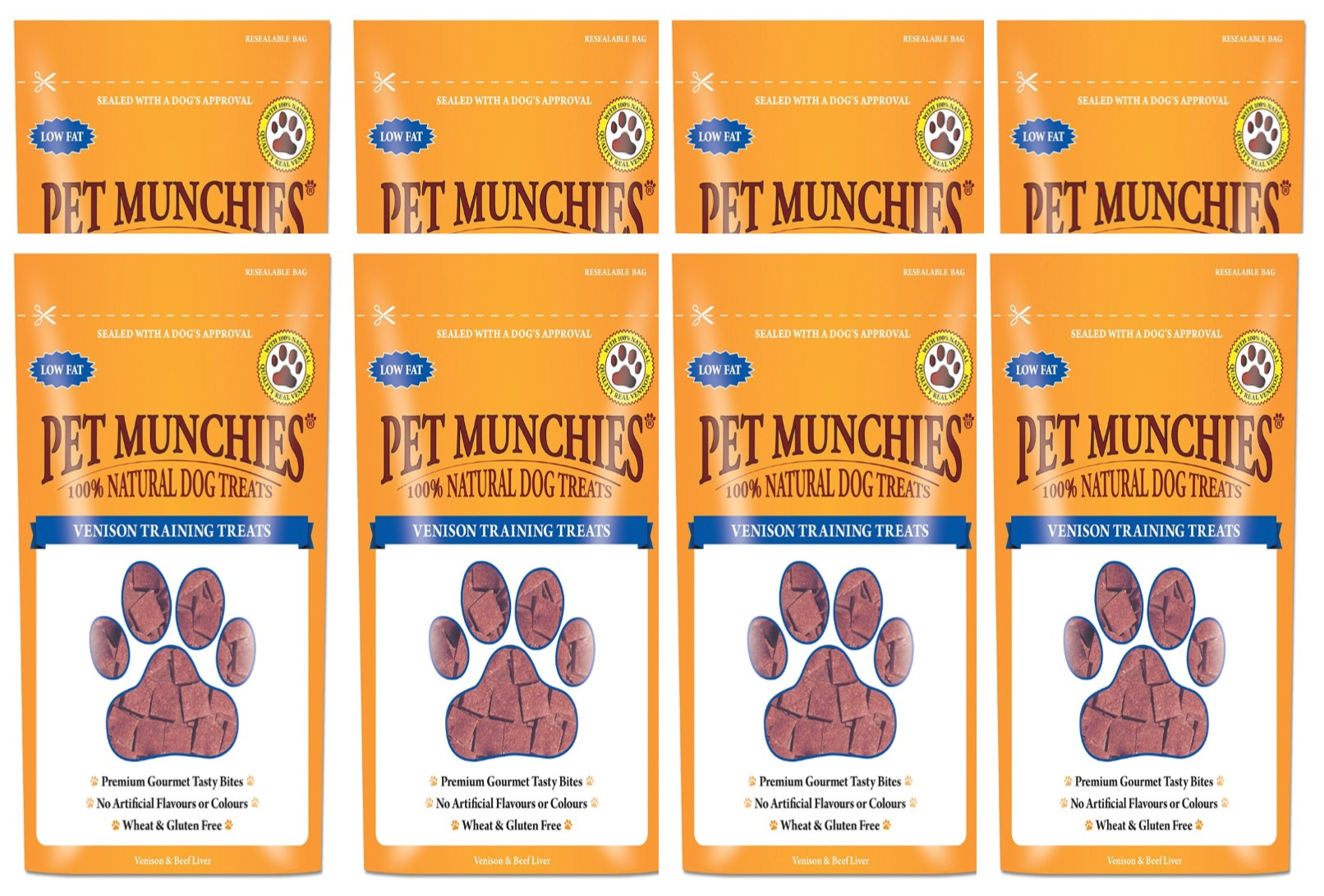 Pet Munchies Training Treats Venison 1 box of 8
