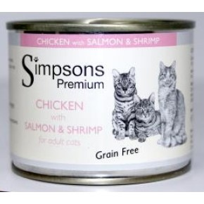 Simpsons Adult Cat Chicken & Salmon with Shrimp 200g