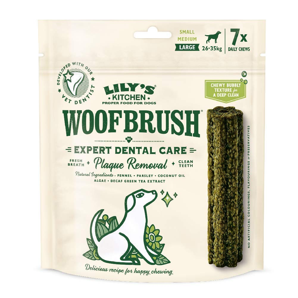 Lilys Kitchen Woofbrush Dental Chew x7, Large