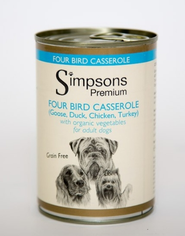 Simpsons Adult Dog 4 Bird Casserole 400g