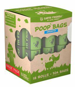 Earth Friendly (18x18) Poop Bags on rolls - Unscented
