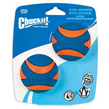 Chuckit Squeaker Ball Medium 2pk
